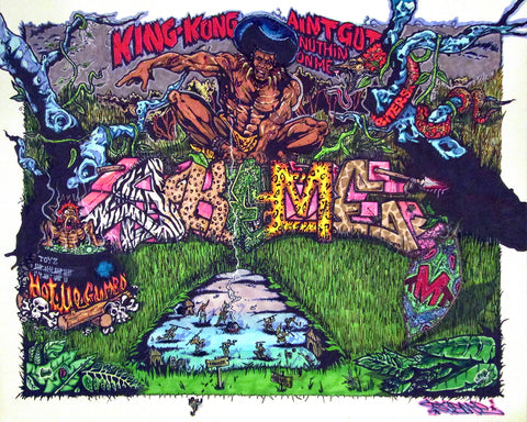 "SKEME - ""King Kong aint got nothin on me"" Drawing"