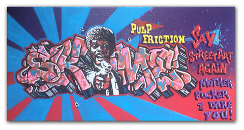 "SKEME - ""Pulp Friction"" painting"