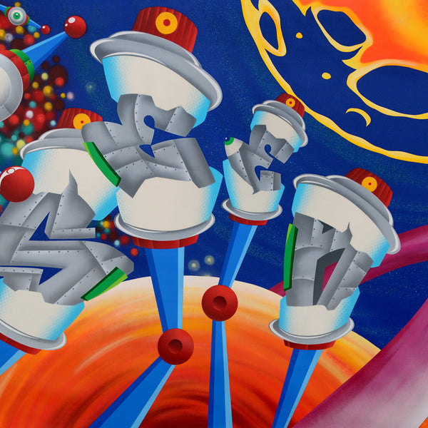 "SEEN - ""Space Station #2"" Painting"