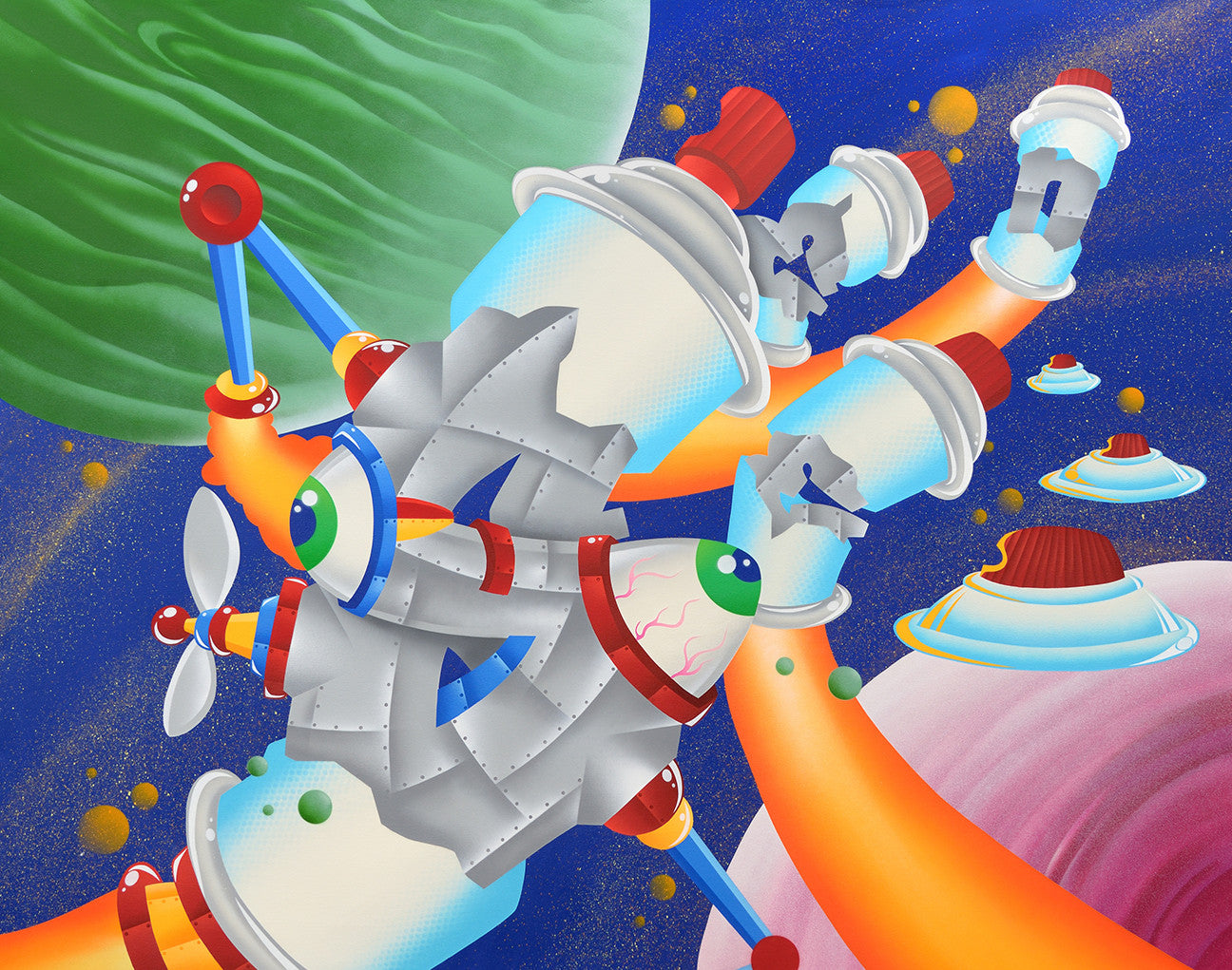 "SEEN - ""Space Station #6"" Painting"