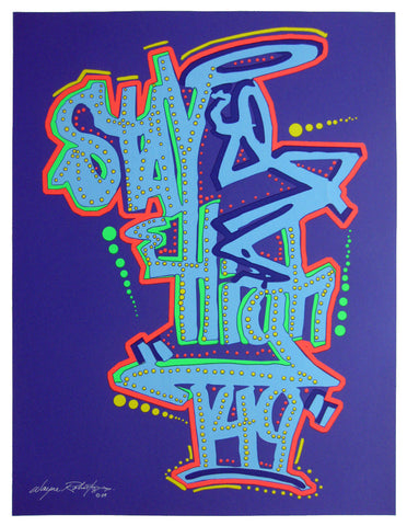 "STAYHIGH 149 - ""Tag (dark blue)"" Print"