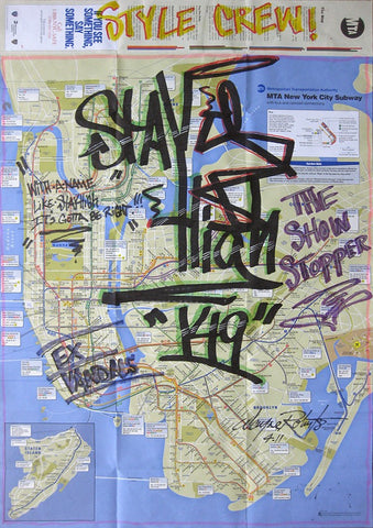 "STAYHIGH 149 - ""The Voice""  MTA Transit Map"