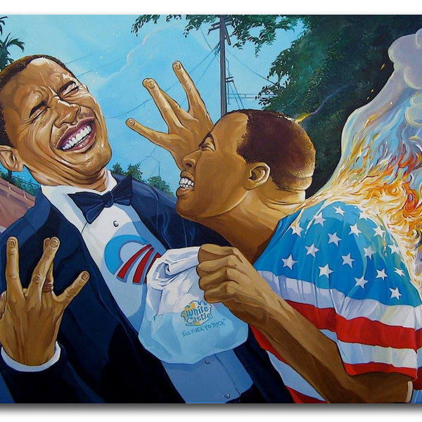 DAVE MACDOWELL - Straight Out of Kenya  - Painting