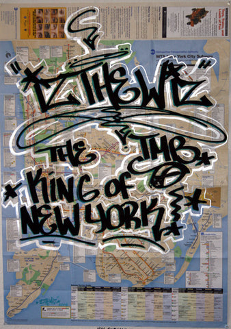 IZ THE WIZ - Kings of NY- Subway Map