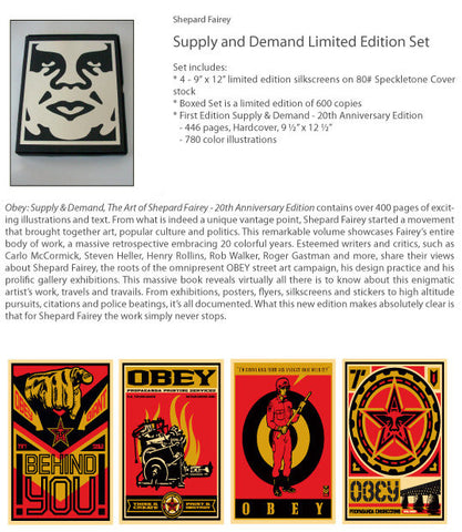 "SHEPARD FAIREY - ""Supply and Demand"" Boxed Set"