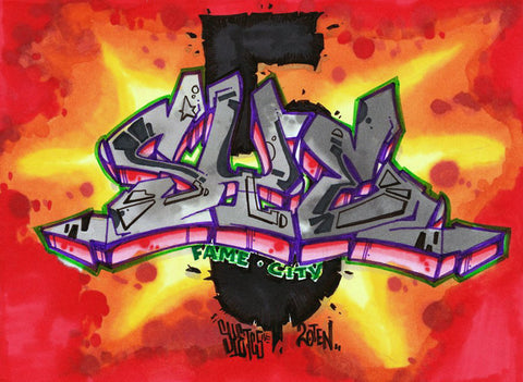"SYE - ""Fire Crackler""  Blackbook Drawing #1"