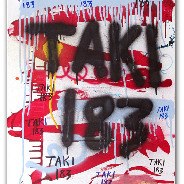 "TAKI 183- ""Untitled #12"" On Canvas"