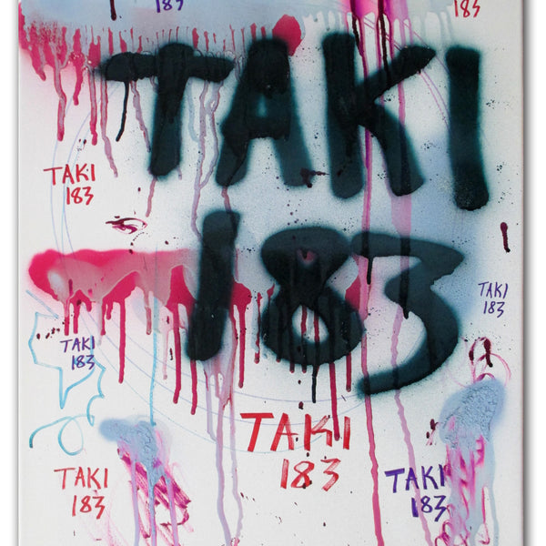"TAKI 183- ""Untitled #14"" On Canvas"