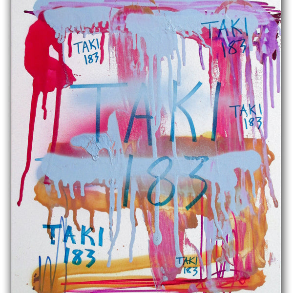 "TAKI 183- ""Untitled #17"" On Canvas"