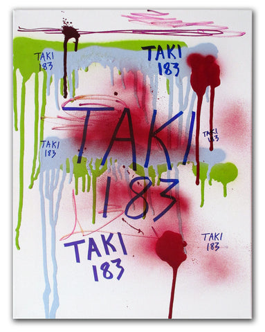 "TAKI-183  ""Untitled 8"" on canvas"
