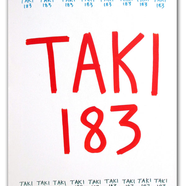 "TAKI 183- ""Untitled #9"" On Canvas"