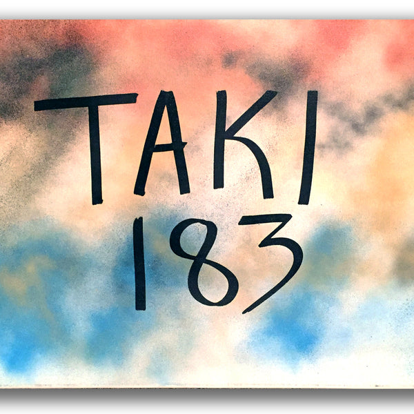 "TAKI 183  ""TAKI 183"" on canvas (Blk)"
