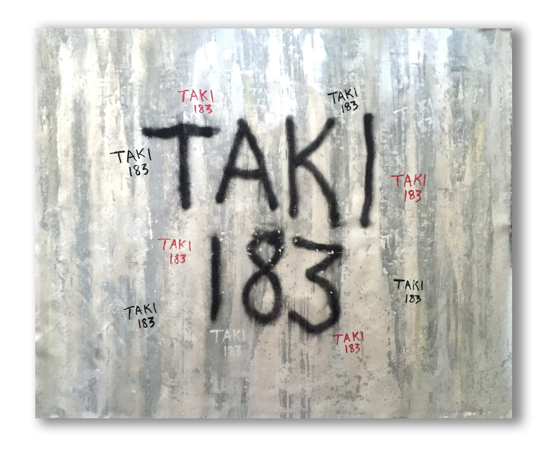"TAKI-183 ""Silver"" on canvas"