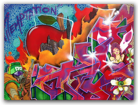 "T-KID 170  - ""Temptation""  Painting"