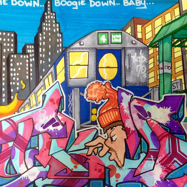 "T-KID 170  - ""Boogiedown""  Drawing"