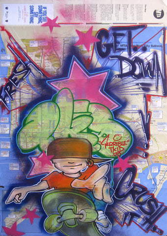 "T-KID 170  -  ""Get Down"" NYC Map"