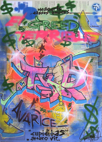 "T-KID 170  -  ""Greed"" NYC Map"