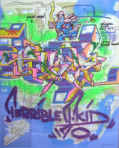"T-KID 170  -  ""Terrible TKID"" NYC Map"