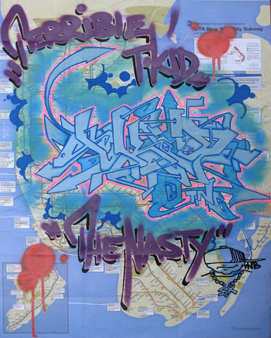 "T-KID 170  -  ""The Nasty"" NYC Map"