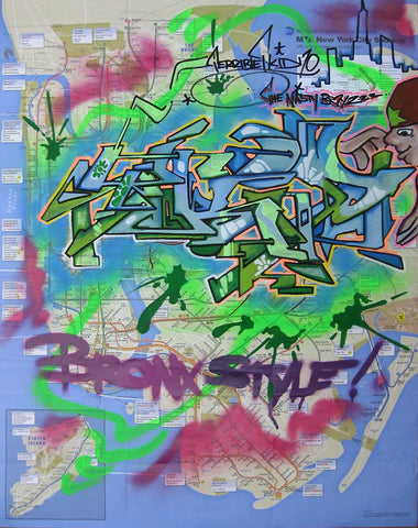 "T-KID 170  -  ""Bronx Style"" NYC Map"