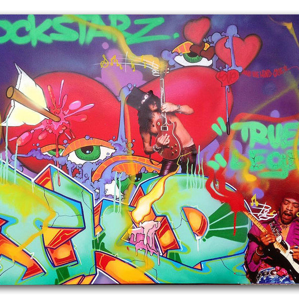"T-KID 170  - ""Rockstarz""  Painting"