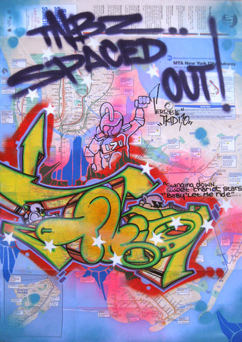 "T-KID 170  -  ""Spaced Out"" NYC Map"