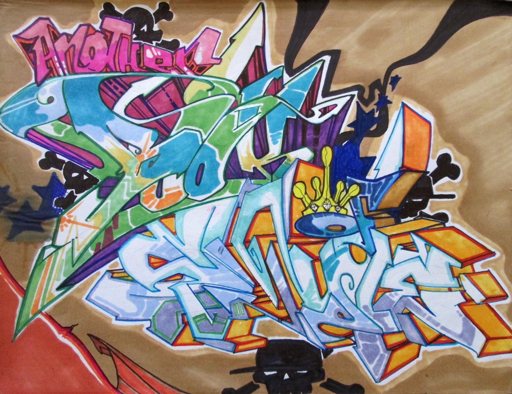 "T-KID 170  - ""Style"" Black Book Drawing"