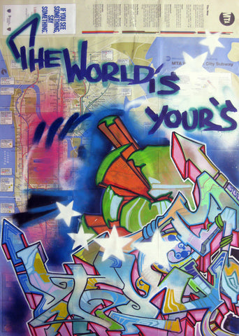 "T-KID 170  -  ""The World is Yours"" Map"