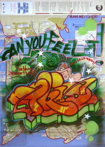 "T-KID 170  -  ""Can u Feel It"" NYC Map"