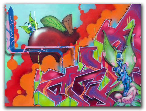 "T-KID 170  - ""The Apple"" Painting"