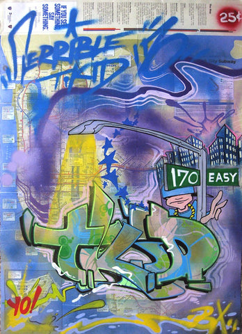 "T-KID 170  -  ""Yo""  NYC Map"