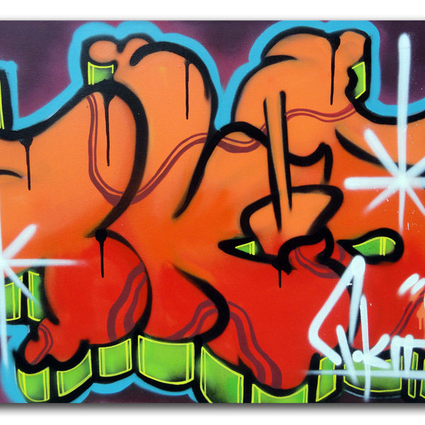 "T-KID 170  - ""Orange Tkid"" Painting"