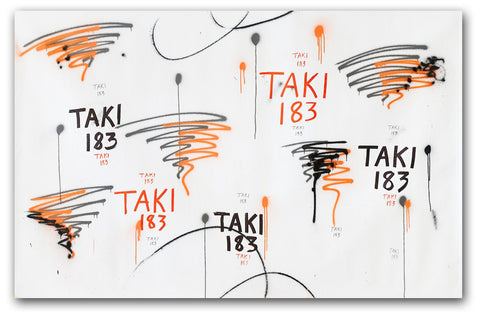 "TAKI 183- ""Untitled #2"" On Canvas"