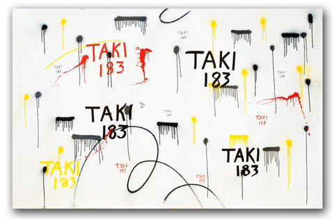 "TAKI 183- ""Untitled"" On Canvas"