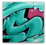 "GRAFFITI ARTIST SEEN  -  ""Signature S""  Aerosol on  Canvas"