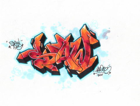 "WEB ONE - TC5 - ""Web 1""  Blackbook Drawing"
