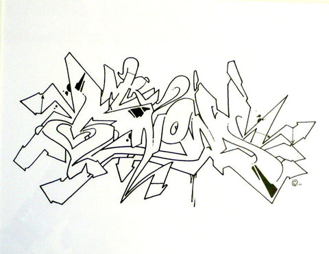"WANE - ""Knows Kaotic ""  Blackbook Drawing"
