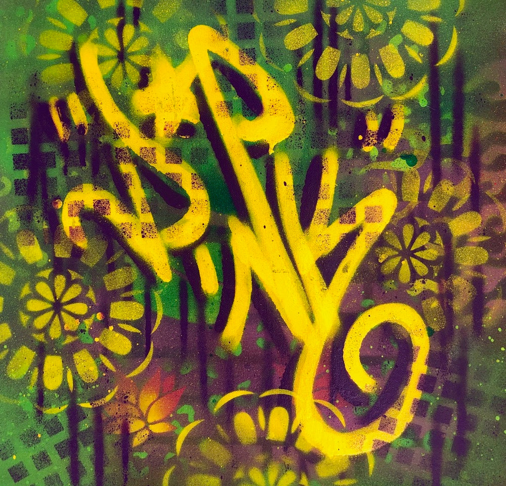 "LADY PINK- ""Yellow Joy "" Painting"