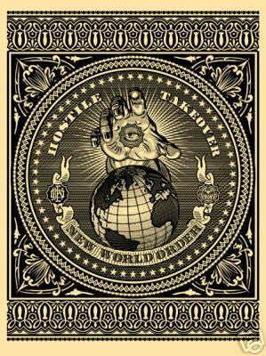 "ShEPARD FAIREY - ""Hostile Take over""(blk)"