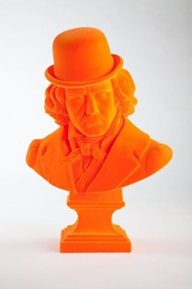 FRANK KOZIK - Orange Flocked Ludwig Van Bust & Print