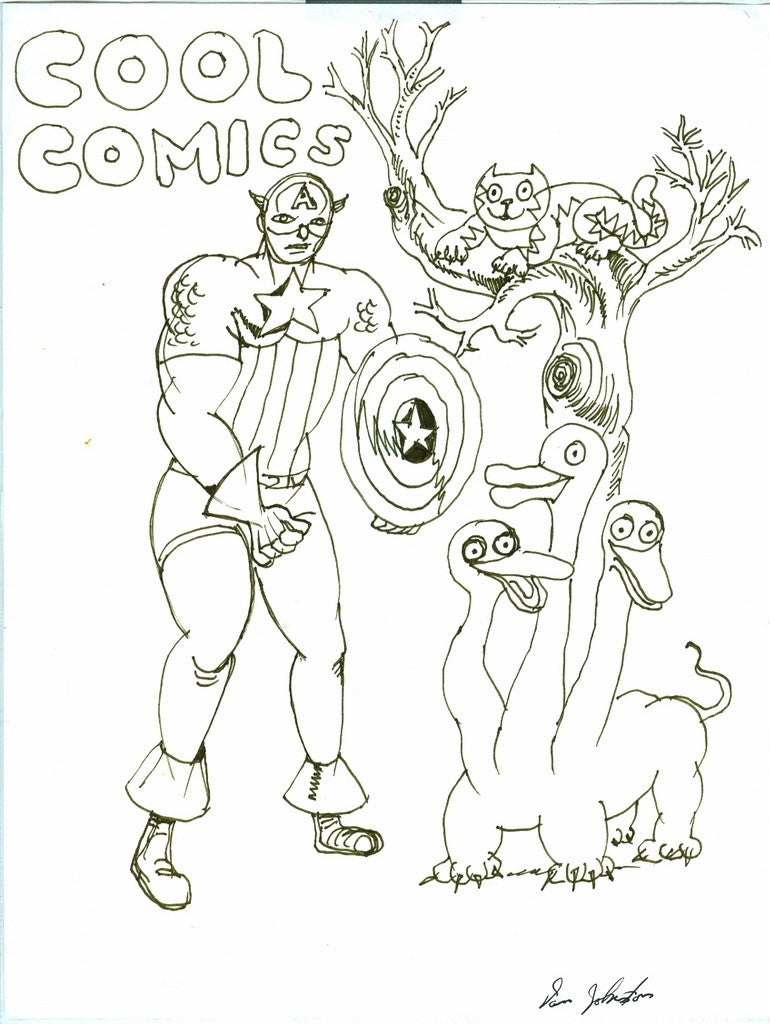 "DANIEL JOHNSTON -  ""Cool Comics"""