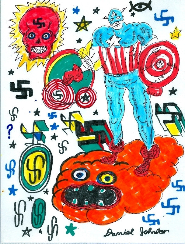 "DANIEL JOHNSTON -  ""Red Skull"""