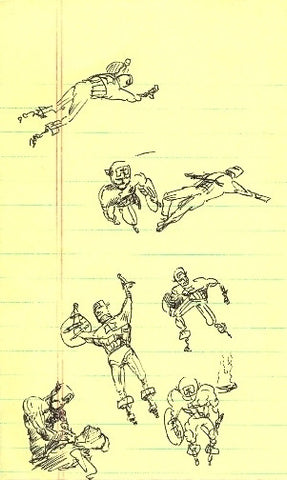 "DANIEL JOHNSTON -  ""Early Notepad Sketches"""