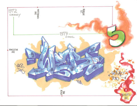 "WEB - ""Crazy to Cool""  Blackbook Drawing"