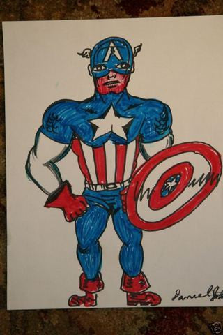 DANIEL JOHNSTON -  Large Captain America