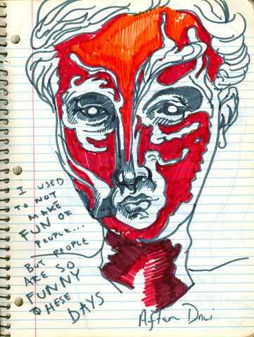 "DANIEL JOHNSTON- ""After Dali"" Notebook Drawing"