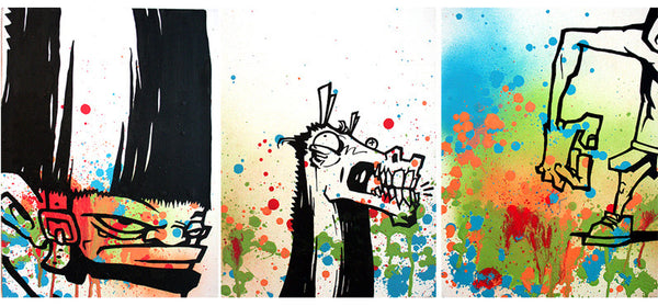 "EWOK 5MH -  ""3 Set Horselington"" triptych"