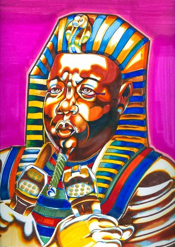 "EZO - ""Biggie/Pharoah"" Black Book Drawing"