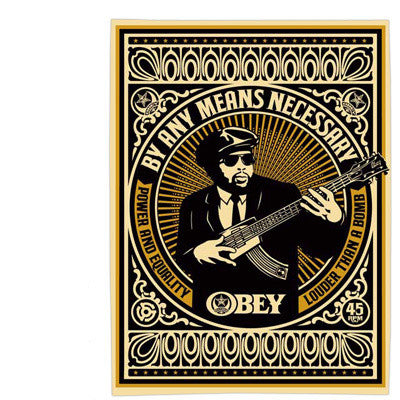"SHEPARD FAIREY - ""By any means Necessary"" GOLD"