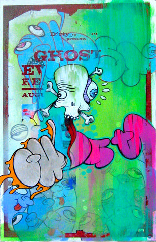 "GHOST- ""Subway Poster Painting #16"""